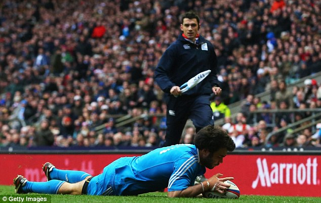 Concern: Luke McLean scored for Italy against England proving there are weak links in the defence