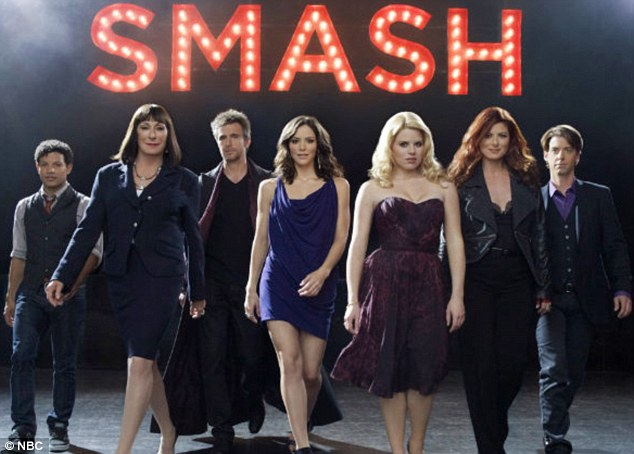 Smash hit: The actress has had to glam up for filming on the second series of the show, about a Broadway musical