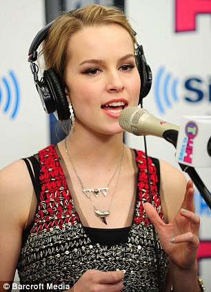 Singing sensation: Bridgit is also a hugely successful popstar