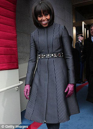 First Lady favorite: Michelle Obama famously wore Thom Browne's design (left) for this year's Presidential Inauguration; the designer (right) is in the running for menswear designer of the year