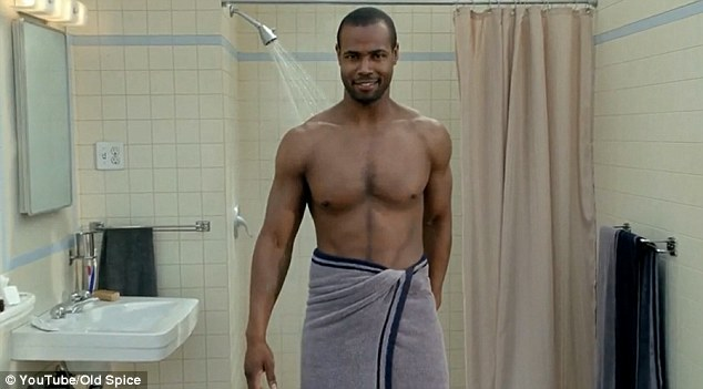 The famous 2010 advert began with Isaiah Mustafa saying, 'Ladies, look at your man, now back to me, now back at your man, now back to me', while standing in front of a shower in a towel