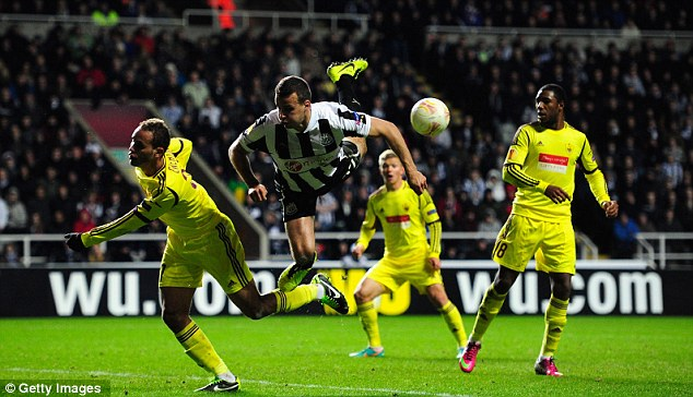 Upping the ante: Newcastle continued to fight before Cisse's eventual winner