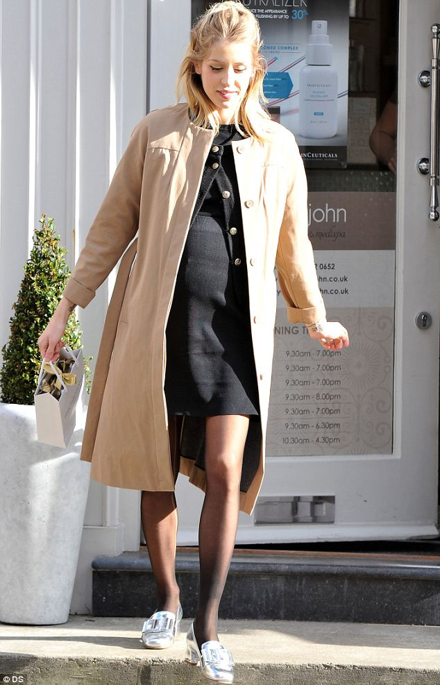 Bumping: Peaches' baby bump was on display as she looked radiant while leaving the salon