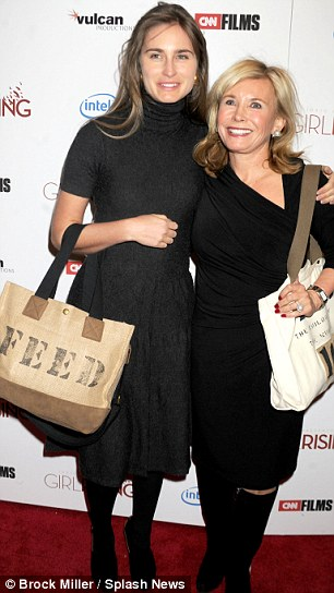 New venture: Lauren Bush Lauren, pictured with her mother Sharon, is to launch a charity line for Target