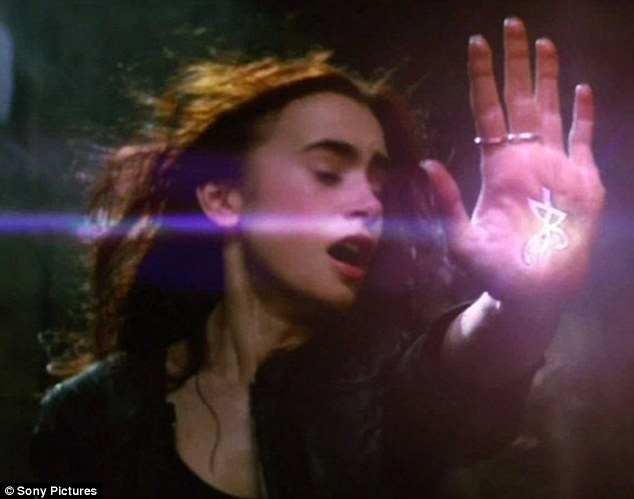 She's magical: Lily Collins in The Mortal Instruments: City of Bones.
