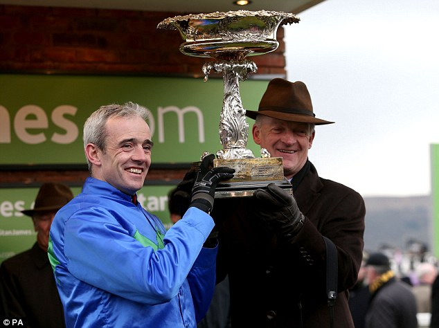 Easy as that: Mullins stands alongside Ruby Walsh after Hurrican Fly's victory