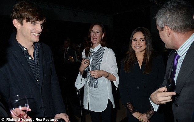 All smiles! Earlier in the evening Mila and Ashton rubbed shoulders with big wigs at the Gemfields VIP showcase while swigging Ketel One Gem cocktails