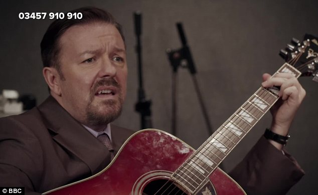 He's back: David Brent made a return to our screens on Friday night's Comic Relief show