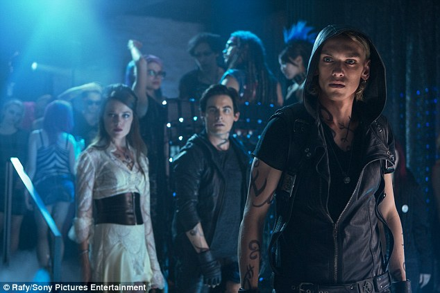 Jace and the gang: Jamie Campbell Bower and his band of Shadowhunters.