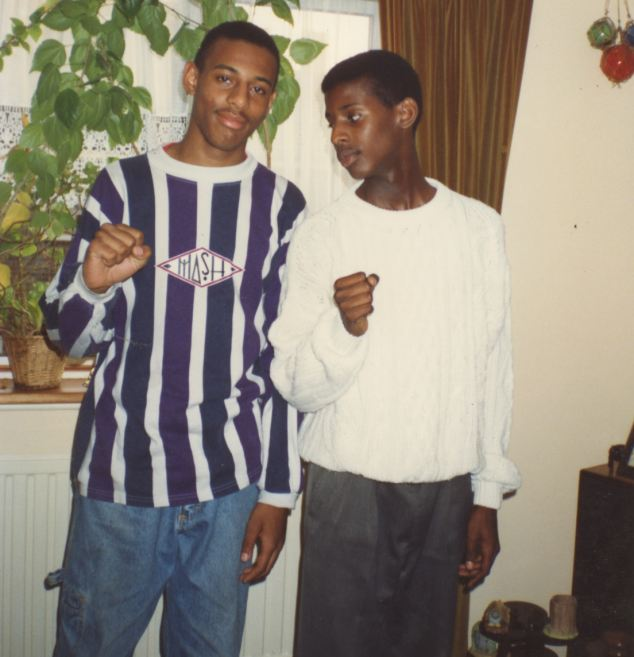 Stephen Lawrence (left) and Stuart Lawrence. Stephen's death prompted the Macpherson Report, with its allegations of institutional racism