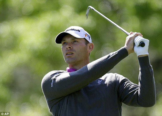 Unlikely leader: Shawn Stefani posted six under par on the first day