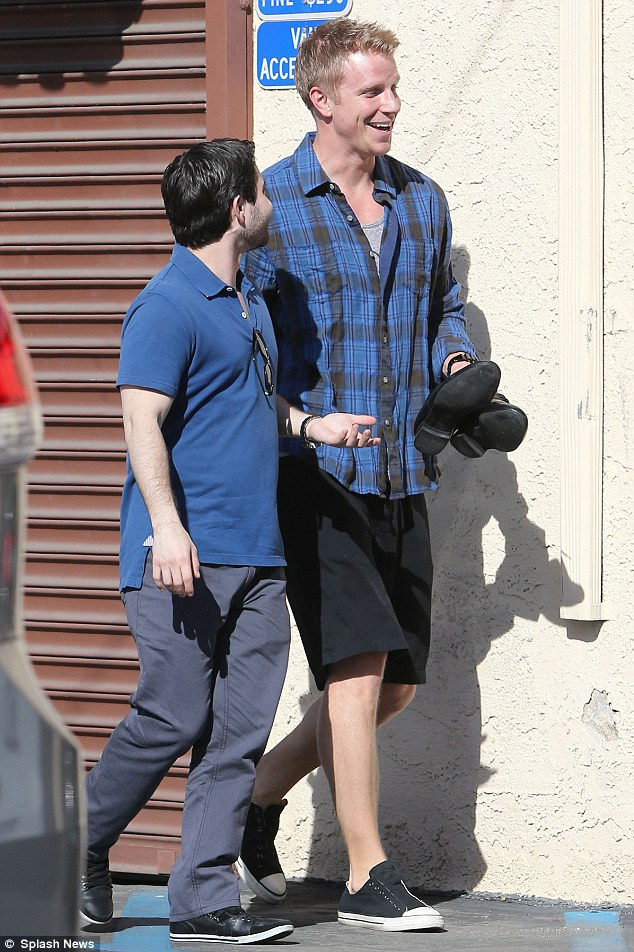 Ready to rumba! Sean Lowe arrived with his dancing shoes for another day of rehearsal on DWTS
