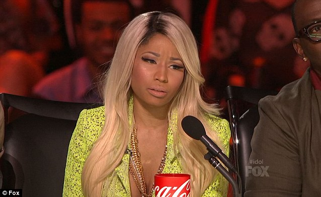 Furious: 'I mean - come on, America, are you kidding me?' Nicki raged