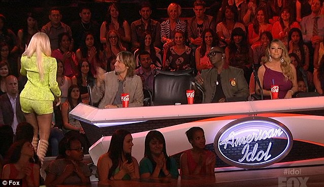 Having a strop: When it was annouced that Curtis Finch Jr was out of the show Nicki left her seat in disgust