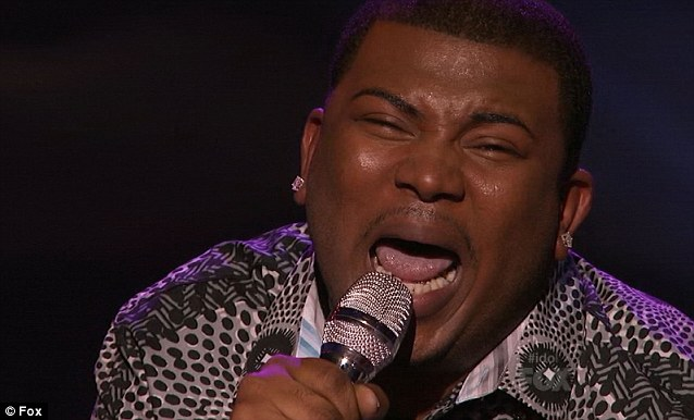 Singing for survival: Curtis gave a heartfelt and emotional performance of R Kelly's I Believe I Can Fly, showing off his impressive vocal range
