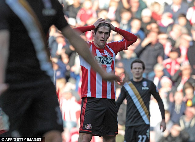 Drought: Sunderland's £5m striker Danny Graham hasn't found the net in five games since moving from Swansea in January