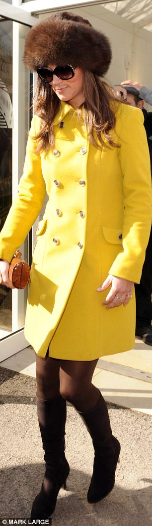 Pippa Middleton arrives at Cheltenham races for day three
