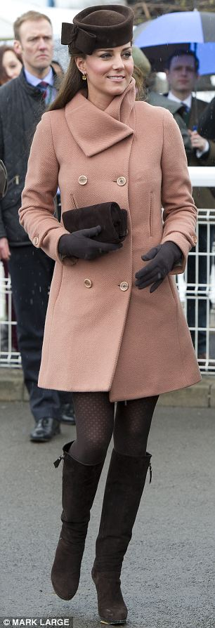 The Duchess of Cambridge attends day four of the Cheltenham Festival