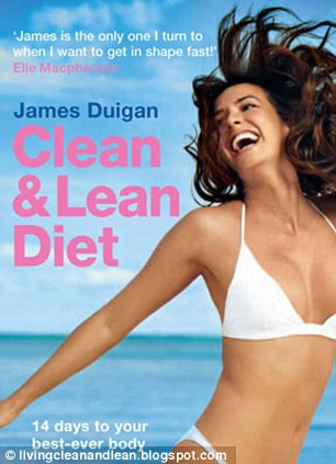Bestseller: James also imparts health and fitness advice in his book 'Clean and Lean Diet'