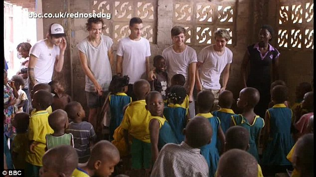 Visit: The band had an emotional visit to Ghana earlier this year to help raise awareness