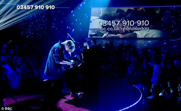 More music: Tom Odell also performed on the live show on BBC One