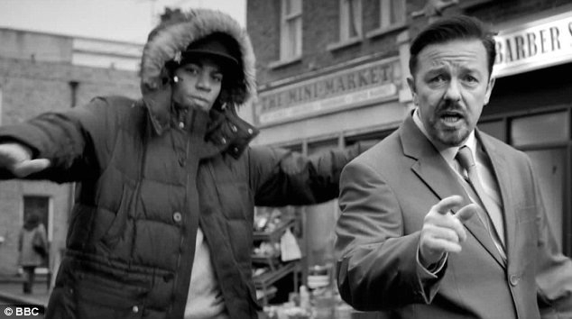 He's made it: The former General Manager performed in his own music video which aired on Comic Relief