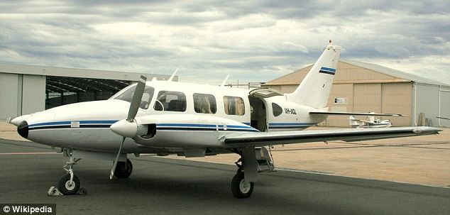 Small: The plane that crashed was a a Piper Navajo (like the one pictured) which can hold up to six people but there were only three passengers on board at the time of the crash