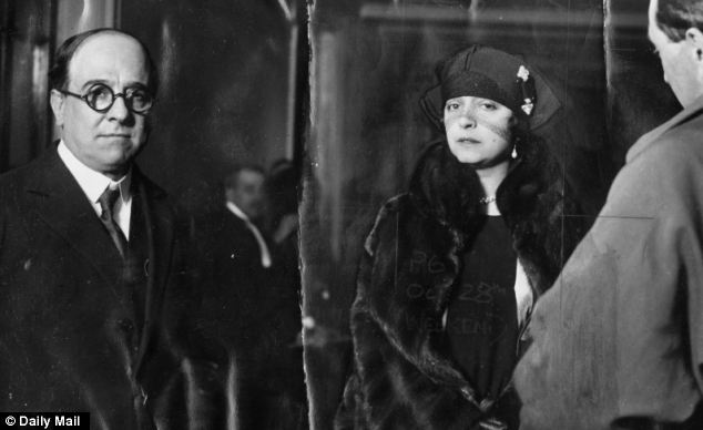 Madame Marguerite Fahmy who was accused of murdering her husband, Aly Bey Fahmy, in the Savoy Hotel, pictured in Paris