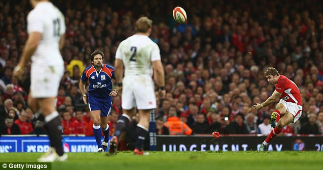 Metronomic: Leigh Halfpenny punished England mercilessly with his boot before Cuthbert took over
