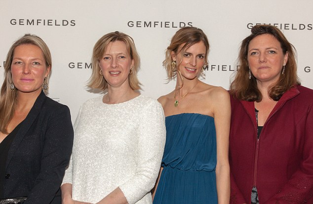 The gems: Jacquetta Wheeler, second from right, attended the event with the Robinson Pelham directors