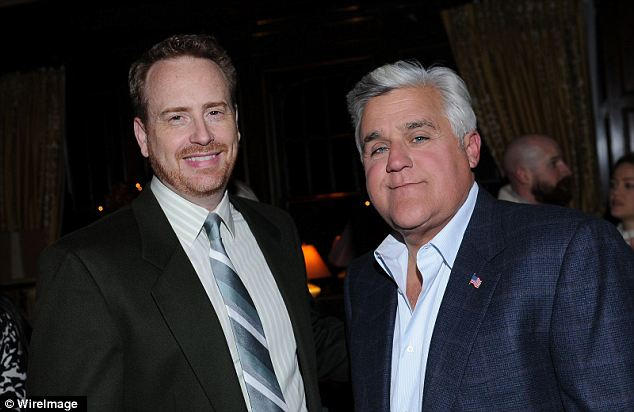 A talking too: NBC entertainment executive Robert Greenblatt (left) reportedly emailed Leno (right) after a particularly pointed monologue