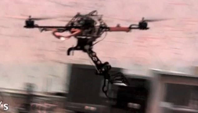 Grip: The gripping device, comprising three talon-like arms, has been tested on a tiny unmanned aerial vehicle