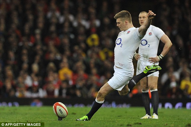 Off-colour: Owen Farrell missed two penalties as England slumped to a painful defeat
