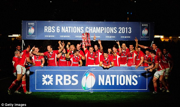 Party time: Wales celebrate