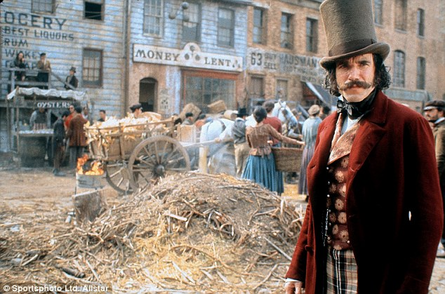 Day-Lewis is famous for his method acting, here as a murderous gangster in Gangs of New York