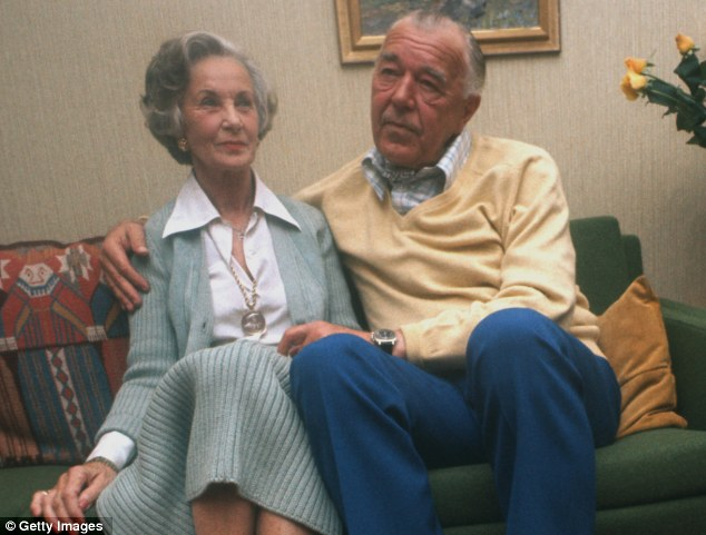 Enduring love: Prince Bertil and Lilian in October 15, 1976, shortly after their engagement had been announced