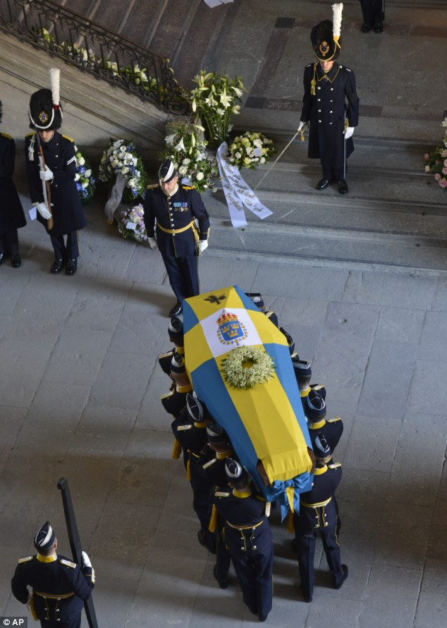 Loved: Princess Lilian was one of the most popular member of the Swedish Royal family and was given a state funeral today