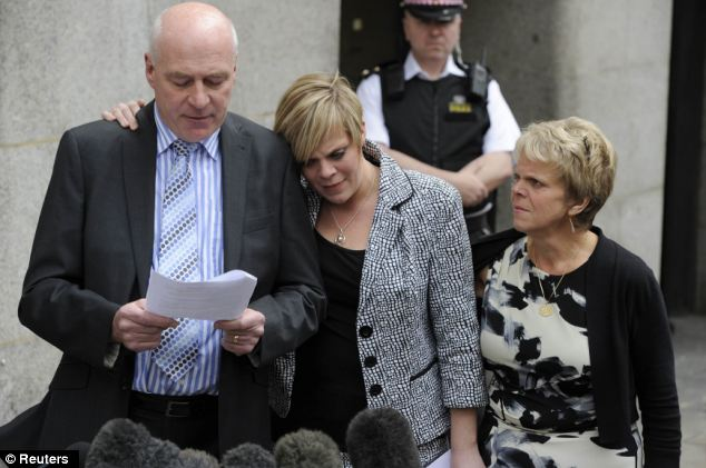 Outcry: The claim that News of the World journalists had deleted messages on Millie Dowler's mobile phone, giving her family, pictured, false hope that she was alive, led to the closure of the paper
