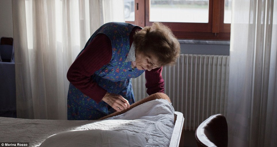 Hard-working: At 85 the couple still work hard around the home