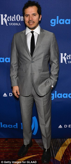 Shades of grey: Dan Stevens and John Leguizamo looked sharp