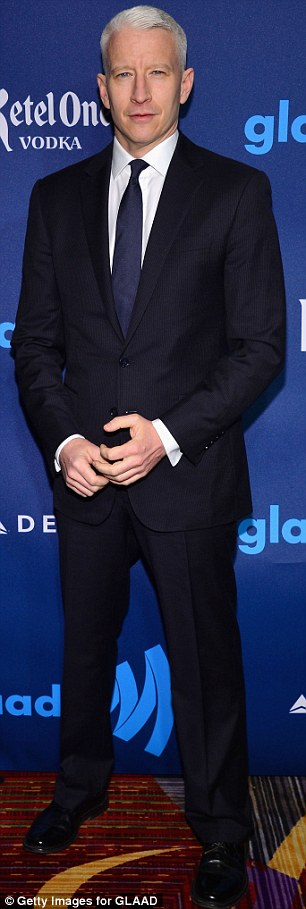 Suited and booted: TV hosts Nigel Barker and Anderson Cooper were suave in their suits