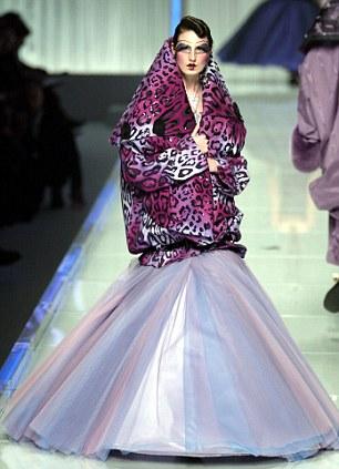 A John Galliano creation at Paris Fashion Week