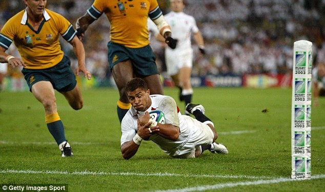 Job done: Jason Robinson and Co went on to beat Australia in the final to win the tournament