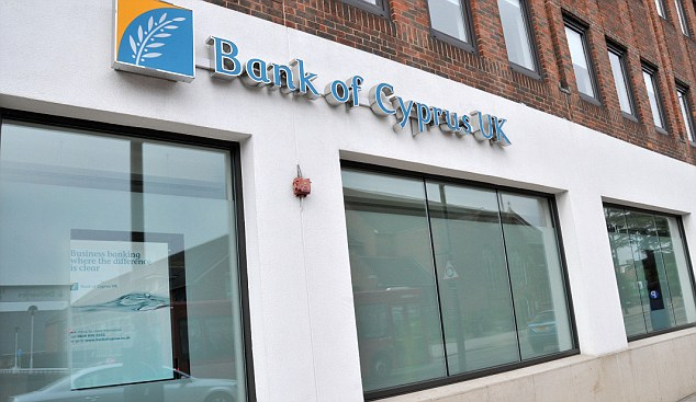 Savings safe: Those with savings in the Bank of Cyprus UK will not be affected by the proposed Cypriot bank tax.