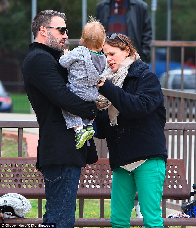 Good team: The Hollywood power couple cooed and doted over their adorable son
