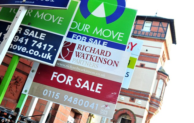 The average price of properties  coming on to the market in recent weeks was £239,710, up by 1.7 per cent on February