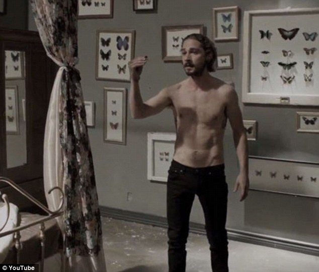How he was... Shia looked a lot slimmer in 2012 when he stripped down in Fjögur Píanó directed by Alma Har'el