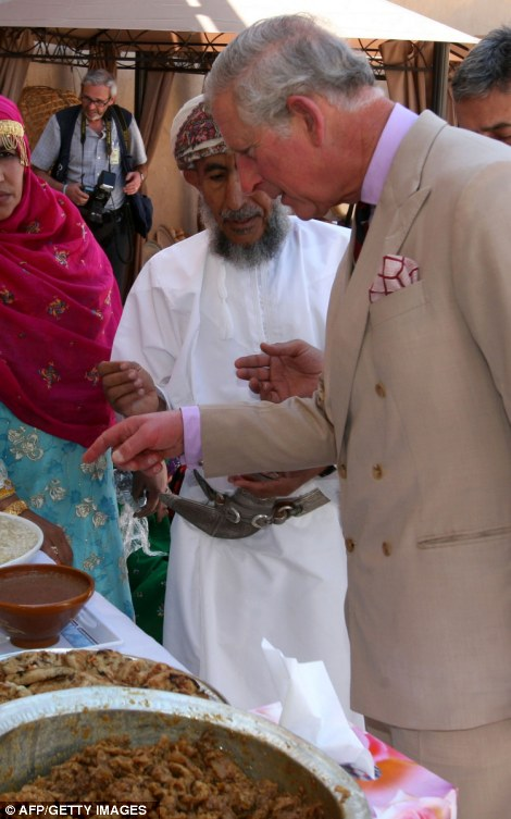 Britain's Prince Charles, Prince of Wales visit the Nizwa Fort, about 140 Kms north of Muscat,