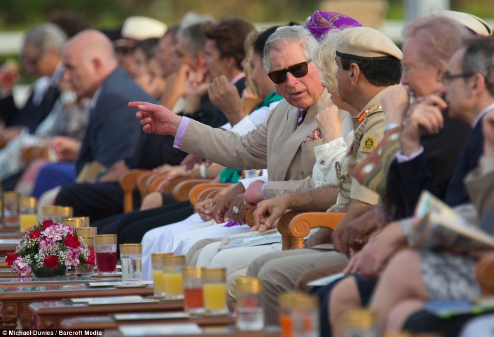 Will you look at that! Prince Charles was clearly impressed by Khadi's rare colour