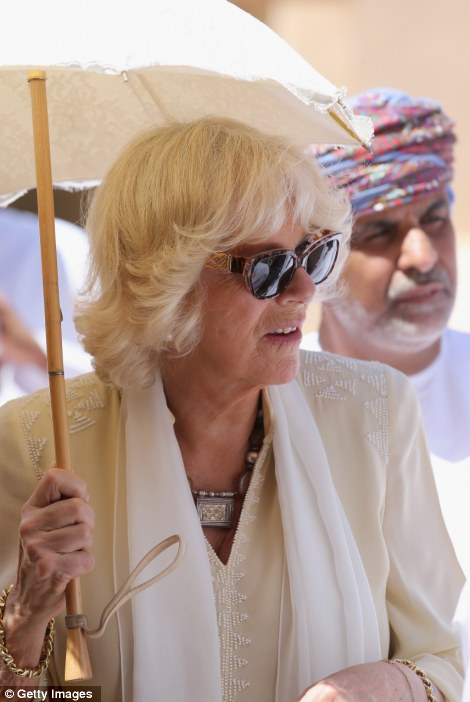 Camilla, Duchess of Cornwall visits Nizwa Fort on the eighth day of a tour of the Middle East